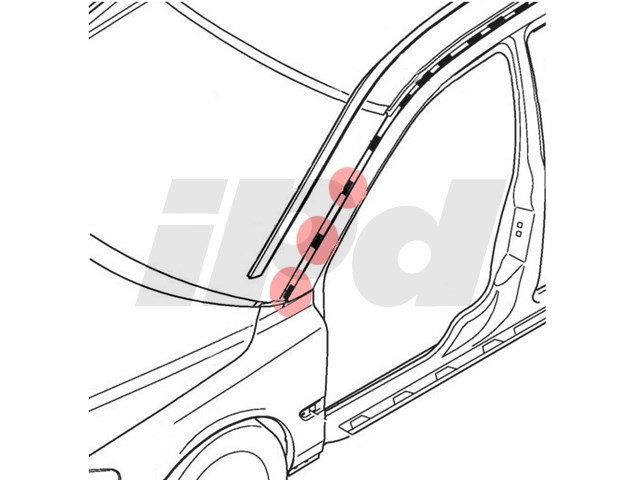 honda window diagram