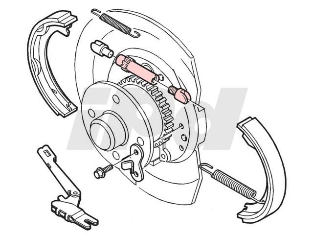 volvo parking brake adjuster link