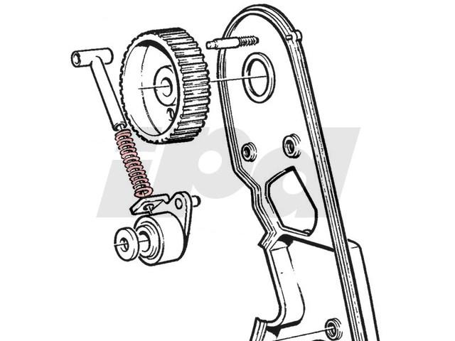 volvo timing belt tensioner spring