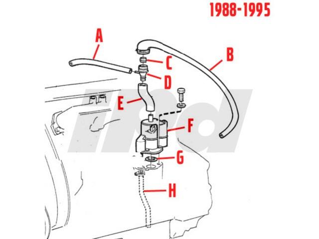volvo flame trap hose 102482 3501708