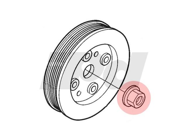 Volvo Crankshaft Pulley Nut 120964 3531111