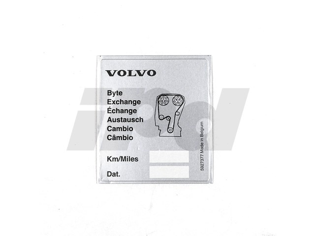 Timing Belt Service Sticker Genuine Volvo 125977