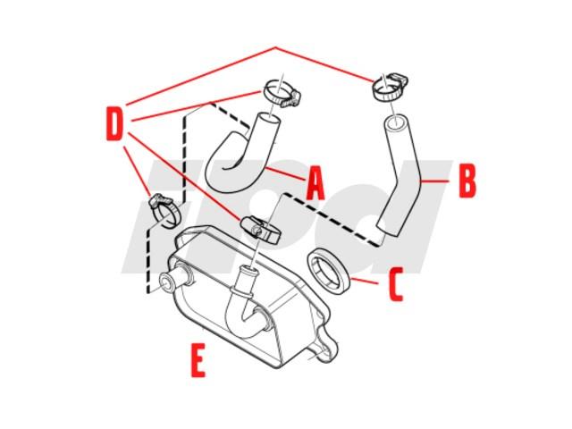 volvo engine oil cooler hose 114470 31104689 9497056 30713304 vol30713304 10653014001 31439475