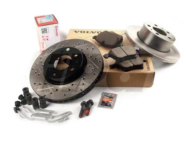 For Volvo C30 C70 S40 V50 Front /& Rear Brake Disc Rotors /& Brake Pads Kit