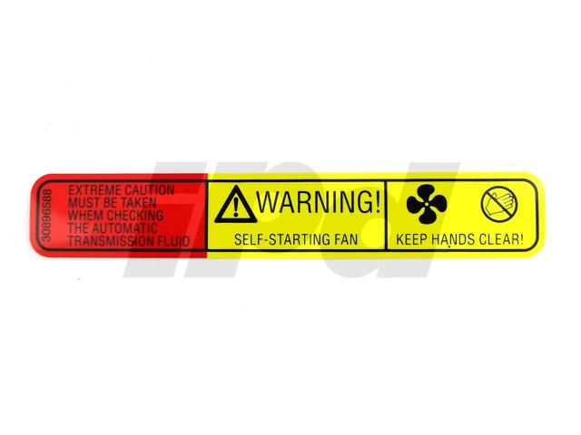 Genuine Volvo Caution Label 30896588