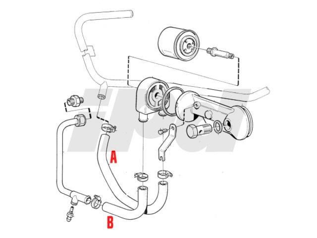 volvo engine oil cooler hose 700 900 112513 9161383. Black Bedroom Furniture Sets. Home Design Ideas