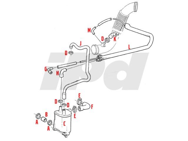 1993 volvo 850 engine diagram volvo pcv hose elbow - 850 turbo aftermarket 112255 9146489
