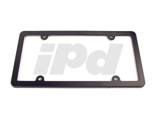Plain Black Plastic License Plate Frame 115527 810001