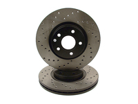 120651 StopTech Powerslot Front Cross Drilled Rotors 300mm - P1 S40 V50 C70 C30