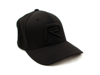 121096 R Emblem Hat Black on Black - L/XL