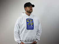IPD Exclusive: 121068 50 Years Running Hooded Sweatshirt White - 2XL (CLOSEOUT)