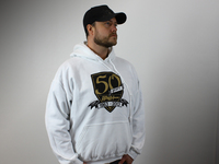 IPD Exclusive: 121076 50 Year Anniversary Hooded Shield Sweatshirt White - 2XL (SALE PRICED) (CLOSEOUT)