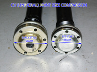 115388 COMPLETE DRIVE SHAFT (LINE) AND CARRIER BEARING FOR AWD S70 V70