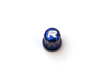IPD Exclusive: 121341 Billet Valve Stem Cap - Blue With R Logo (SALE PRICED)