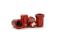 IPD Exclusive: 121400 Billet Valve Stem Cap Kit - Red With R Logo