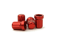 IPD Exclusive: 121401 Billet Valve Stem Cap Kit - Red (SALE PRICED)