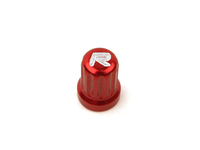 IPD Exclusive: 121399 Billet Valve Stem Cap - Red With R Logo (SALE PRICED)