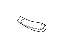 115345 Windshield  Wiper Arm Nut Cover Right