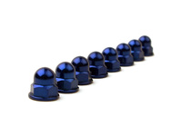IPD Exclusive: 121654 Billet Acorn Nut License Plate Dress Up Kit - Blue