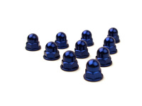 IPD Exclusive: 121656 Billet Acorn Nut Cam Cover Dress Up Kit - Blue