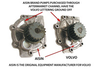 115412 AISIN PUMP COMPARED TO VOLVO PUMP
