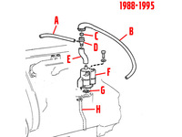 102482 FLAME TRAP HOSE - POSITION E IN DIAGRAM - NON TURBO