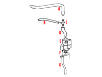 102482 FLAME TRAP HOSE - POSITION D IN DIAGRAM - TURBO