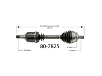 114950 Left Front Axle Assembly (CLOSEOUT)