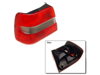 114889 Left Outer Tail Lamp Lens - S70