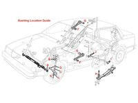 110728 INNER CONTROL ARM STAY BUSHING KIT - POSITION B IN DIAGRAM