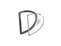 103967 Side Rear Quarter Window Seals - 1800 Coupe