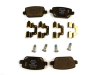 115701 Rear Brake Pad Set P3 S80 V70 XC70 with Manual Parking Brake