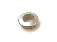 Door Lock Pin Bezel - Silver