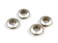 112802 Door Lock Pin Bezel Set - Silver