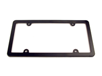 115527 Plain Black Plastic License Plate Frame